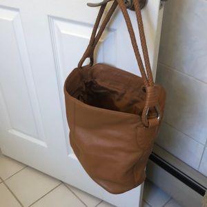 Genuine Tan leather Shoulder Bag